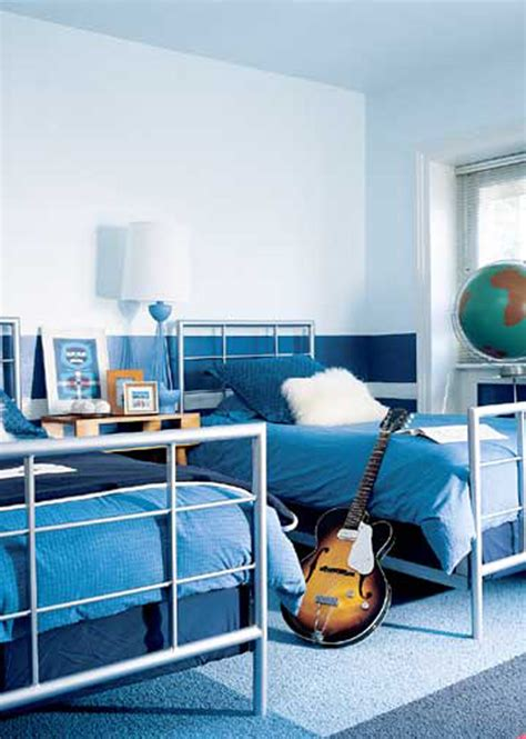 Kids Bedroom Stylish White And Blue Painted Walls Shared Room Decorating Ideas Boys