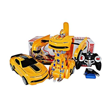 jual rc car robot 2in1 deformation transformer bumblebee 999 1 mainan mobil remote