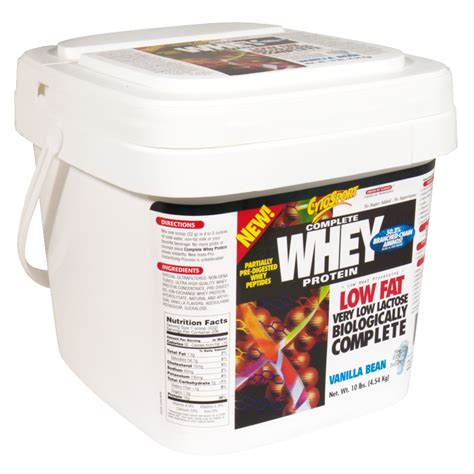 Whey Protein 10 Lbs cytosport complete whey protein vanilla bean 10 pounds