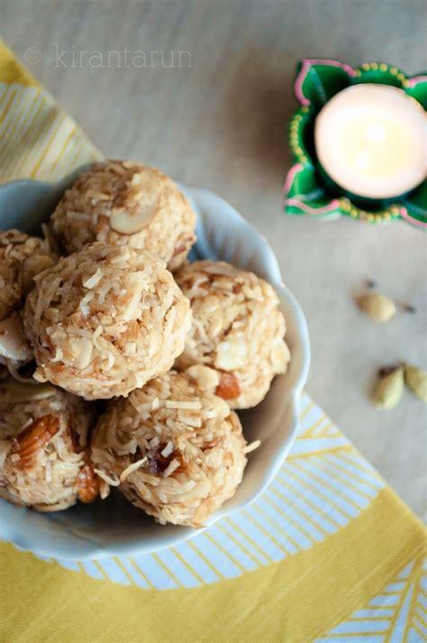 diwali coconut almond laddu kiran tarun r e c i p