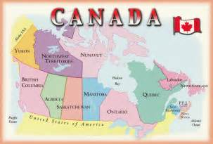 map of canada my collection of postcards from the world