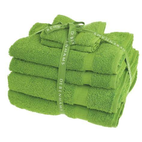 bright green super soft bath towel set from debenhams