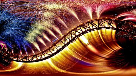 abstract expressionism wallpaper full hd wallpaper bridge expressionism firework reflection