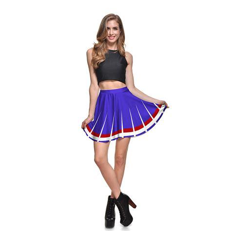 plus size skirt white striped printed mini skirt s