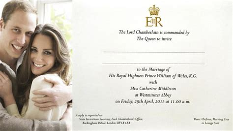 Paper Prince Wedding Invitations by See William And Kate S Royal Wedding Invitation