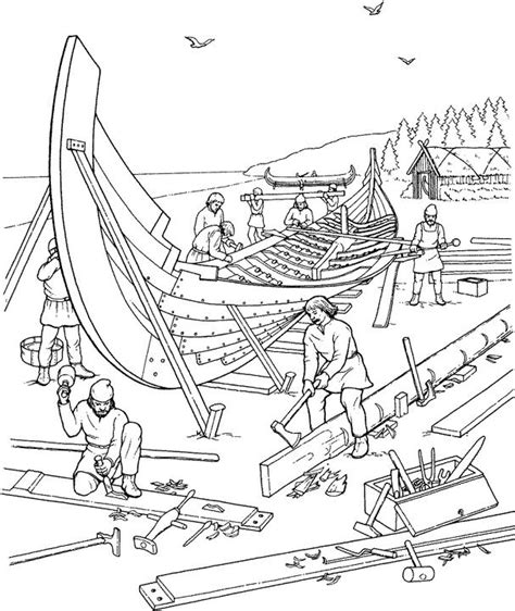 viking coloring pages pdf viking ship building coloring page vikings for kids