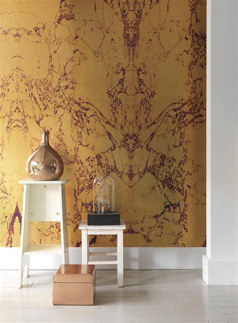 gold wallpaper decor ideas gold marble wallpaper design by piet hein eek for nlxl