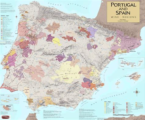spain and portugal map wine regions of portugal spain