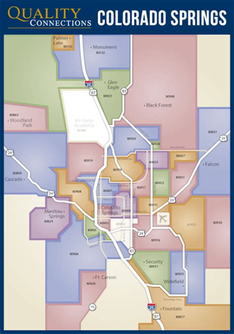 colorado springs zip code map colorado springs qc marketing