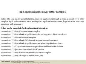 Lawyer Assistant Cover Letter by Top 5 Assistant Cover Letter Sles