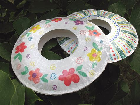 Paper Plate Crafts For Summer - recycling paper summer c for paper plate