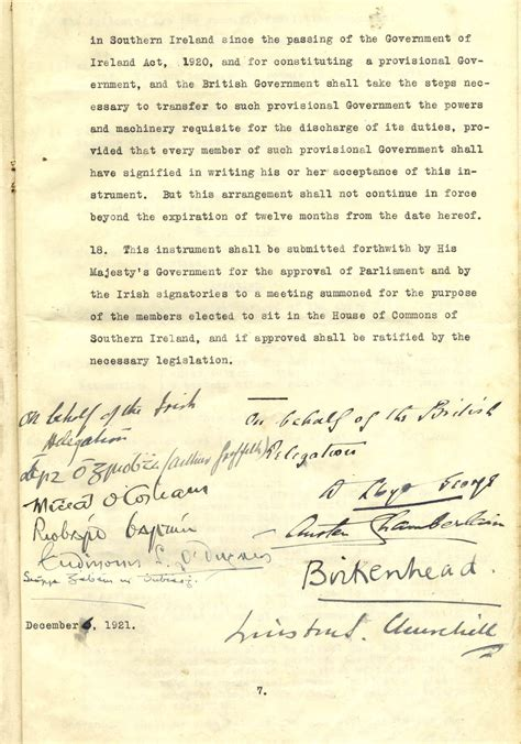 Anglo Treaty Negotiations Essay by Anglo Treaty 6 December 1921 Page 7 Treaty