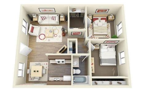 Apartments For Rent One Bedroom 50 plans 3d d appartement avec 2 chambres