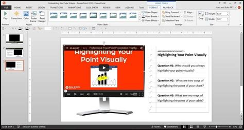 powerpoint tutorial 2015 youtube how to put a youtube video in powerpoint