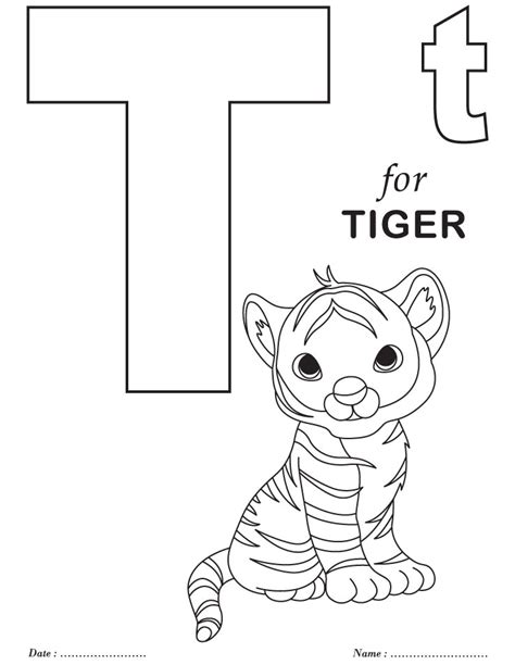 coloring page letter t printables alphabet t coloring sheets abc s and reading