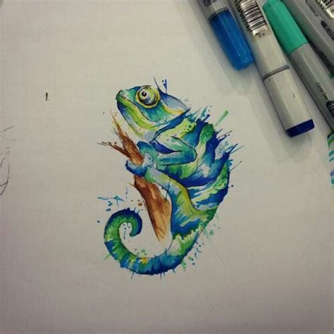 chameleon tattoo designs best 25 chameleon ideas on