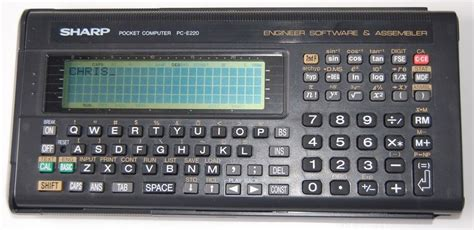 calculator programmer sharp pc e220 a collection of programmable and non