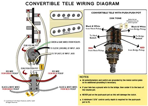 telecaster   convertible wiring diagram