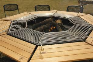 Free Easy Octagon Picnic Table Plans by Giant Grill Table Gives American Bbq The Korean Bbq Treatment