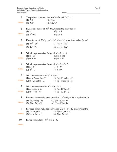 Factoring Polynomials Worksheet Algebra 2 by 15 Best Images Of Algebra Polynomials Worksheets Algebra 2 Factoring Polynomials Worksheet 1