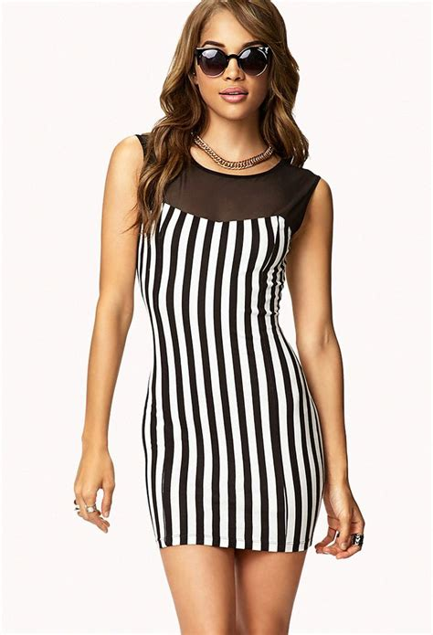 vertical design clothes vertical striped bodycon dress forever21 2073205788