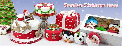 christmas cake decorations trees plastic decorations