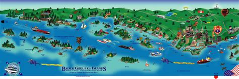 map thousand islands thousand island canada boat tour