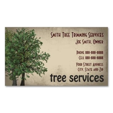 Tree Removal Business Card Templates by Tree Trimming Care Services Business Card
