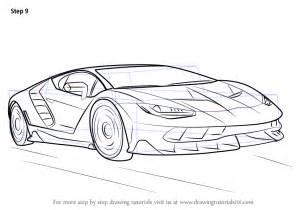 Step by step how to draw lamborghini centenario drawingtutorials101
