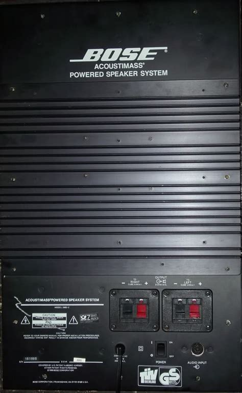 bose acoustimass powered speaker system   bose