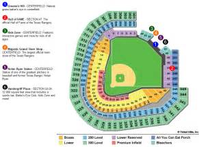 rangers ballpark seating map globe seating chart globe park tickets in