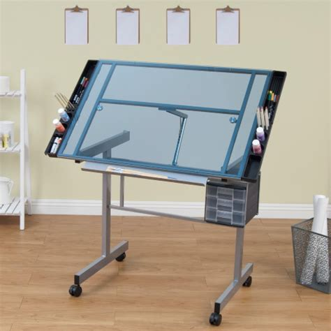 drafting light table for sale studio designs vision craft station with glass top plus