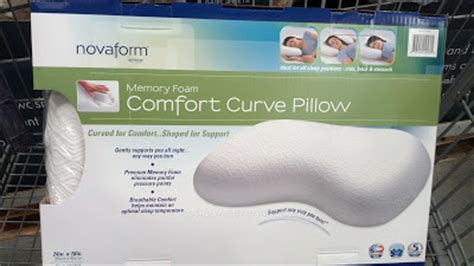 novaform core comfort memory foam pillow novaform memory foam comfort curve pillow by novaform