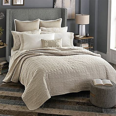 milano bedroom collection cedar hill furniture ivory beekman 1802 stillwater double cloth quilt in linen