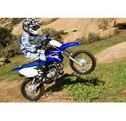 Yamaha TTR 110E Bike Wallpaper In Blue Color And Rider