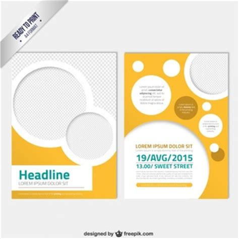 circle brochure template modern brochure template with circles