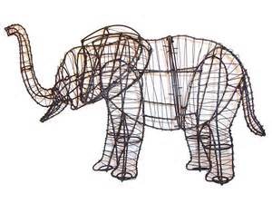 Topiary Wire Forms - elephant animal topiary frame