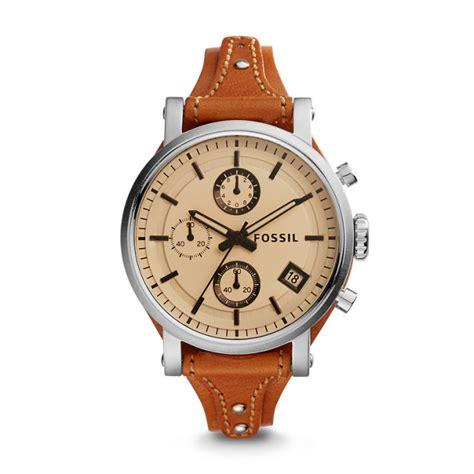 Fossil Boyfriend Brown Original Boyfriend Sport Chronograph Brown Leather