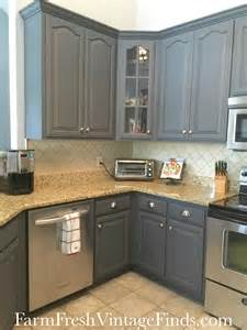 Gray Painted Kitchen Cabinets by Painting Kitchen Cabinets With General Finishes Milk Paint