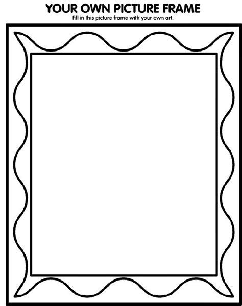 family portrait coloring page printable picture frames templates your own picture