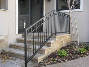 Outdoor Metal Handrail Custom Wrought Iron Handrails Dallas Fort Worth