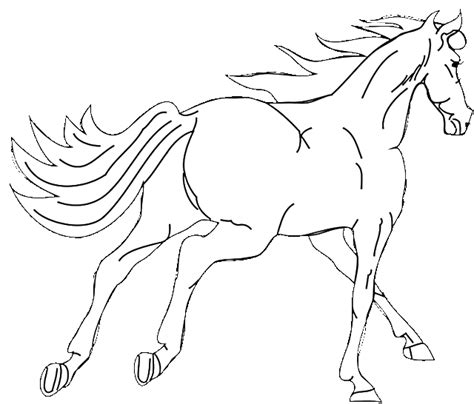 simple horse coloring pages coloring pages