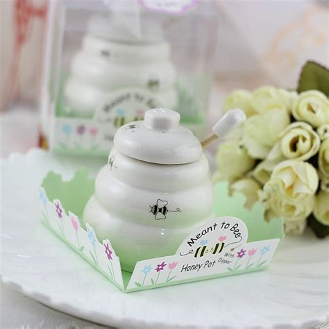 Honey Pot Favors Baby Shower by 50pcs Meant To Bee Ceramic Honey Pot Wedding Bridal Shower