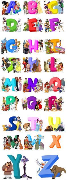 Disney Character Letter Y 1000 images about abc s on animal alphabet