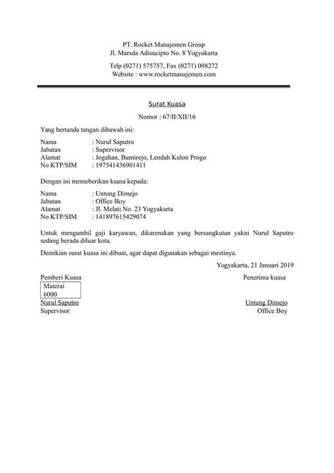 download contoh surat kuasa untuk berbagai keperluan