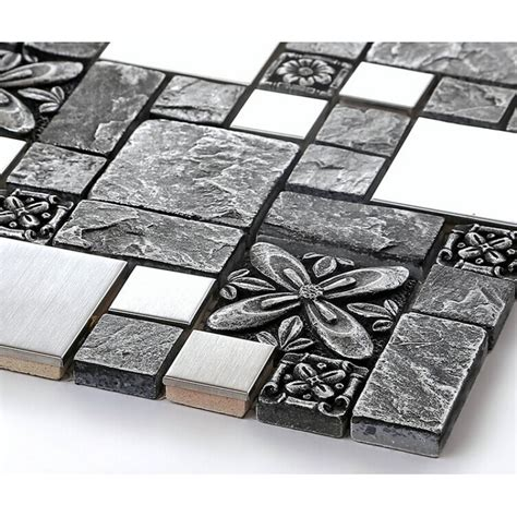 mosaic stainless steel backsplash brushed stainless steel backsplash mosaic tile designs