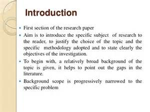 Introduction Research Paper How To Write A Good Research Paper