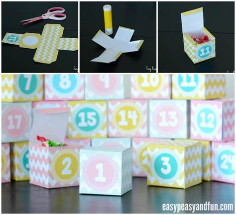 Printable Advent Calendar Boxes | printable advent calendar boxes easy peasy and fun