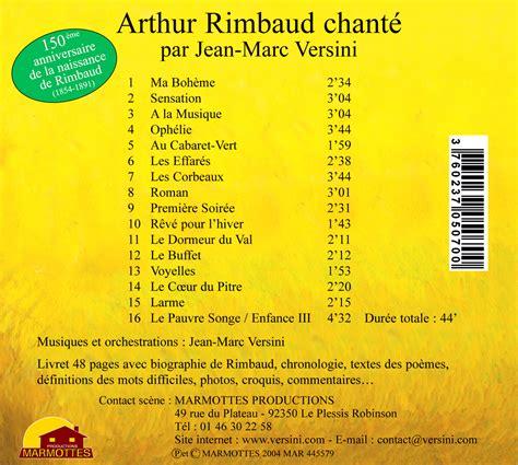le dormeur du val chanson arthur rimbaud chant 233 par jean marc versini cd digipack