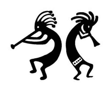 two kokopelli indian fertility vinyl stickers decals